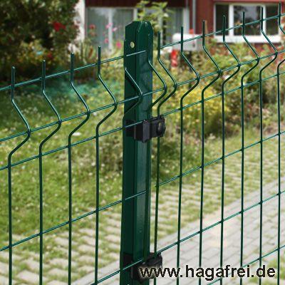 50m Mattenzaun-Set GENO 3D-Stabmatten T-Pfosten grün