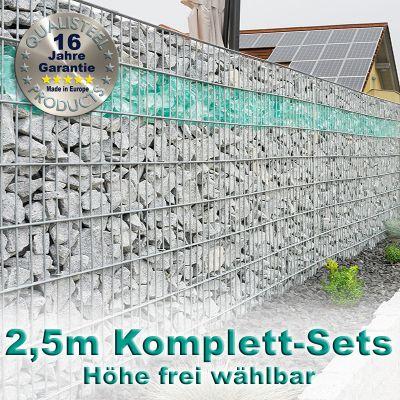 Gabionenzaun-Set 8-6-8 feuerverzinkt 2,5m