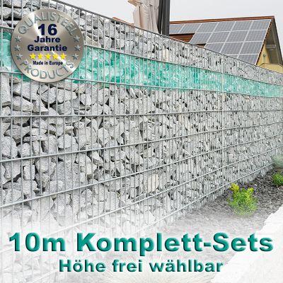 Gabionenzaun-Set 6-5-6 feuerverzinkt 10m
