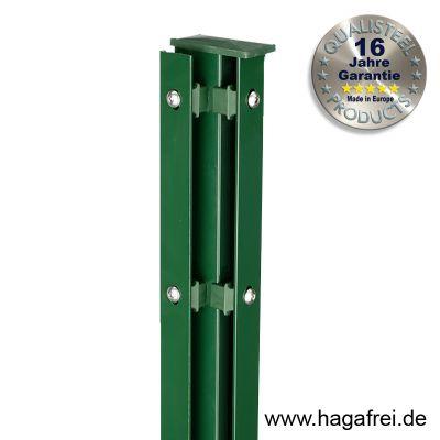 Eckpfosten Schiene für Industriezäune 60 x 40 mm fvz + pulverbeschichtet
