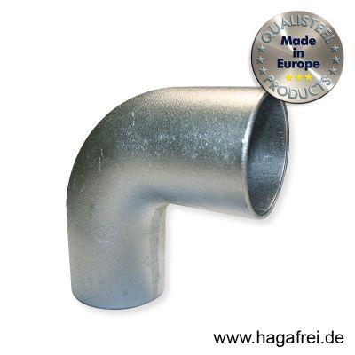 L-Bogen 90° für 60mm Rohre, aus Aluminium