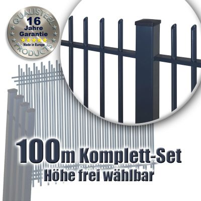 frontgitter komplett set pulverbeschichtet 100m. Black Bedroom Furniture Sets. Home Design Ideas