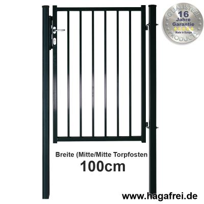 Zauntor BARO feuerverzinkt oder fvz. + pulverbeschichtet 1000 mm Breite