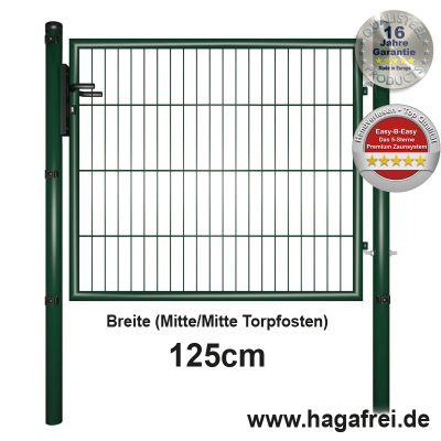 Gartentor EASY-B-EASY feuerverzinkt + grün 1,25m Breite
