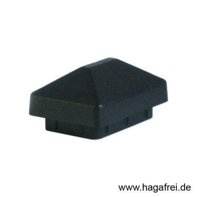 Pfostenkappe für Rechteckpfosten 60 x 40 mm schwarz