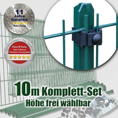10m Mattenzaun-Set EASY-B-EASY grün Universal T-Pfosten
