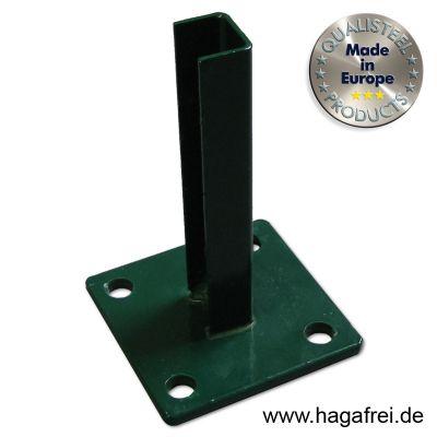 Standfuß grün für Pfosten Ø 42 - 44 mm