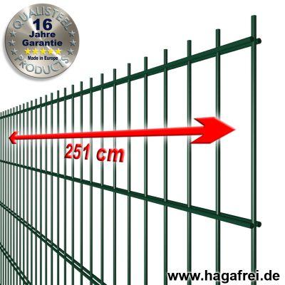 Industrie-Doppelstab-Zaunmatte 6-5-6 feuerverzinkt + pulverbeschichtet