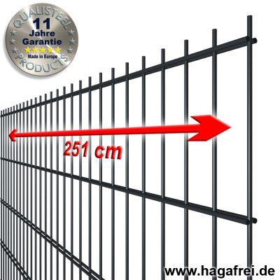 Industrie-Doppelstab-Zaunmatte 8-6-8 verzinkte Drähte + pulverbeschichtet