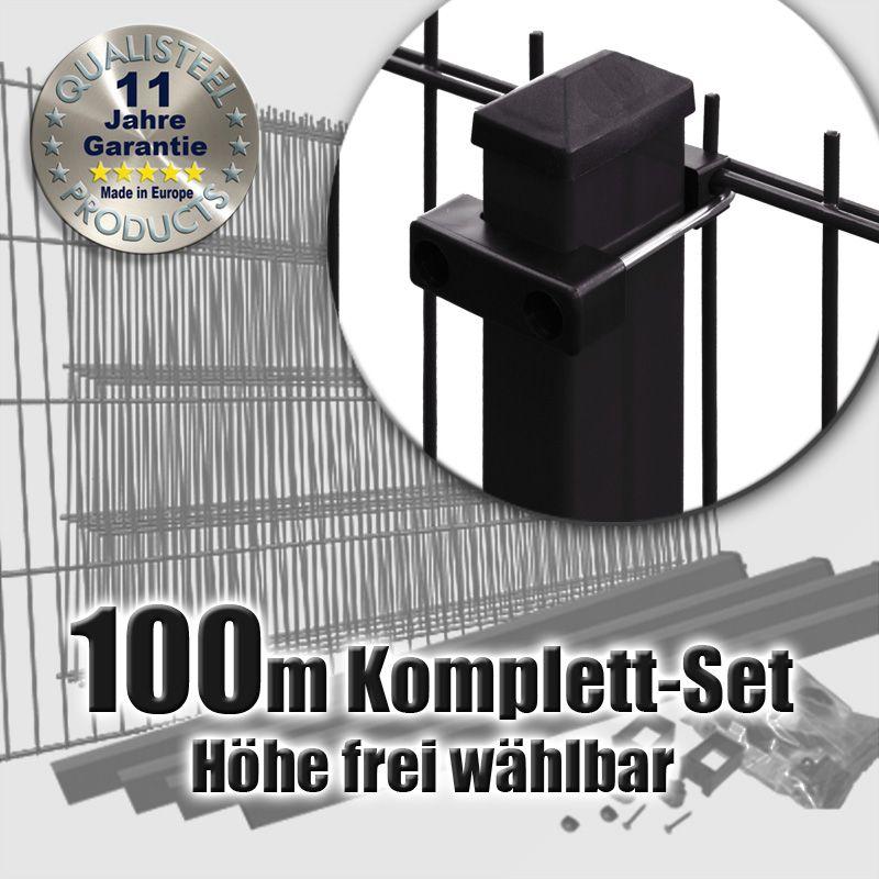 100m doppelstabmattenzaun set schwarz u b gel doppelstabmattenzaun und gabionen online kaufen. Black Bedroom Furniture Sets. Home Design Ideas