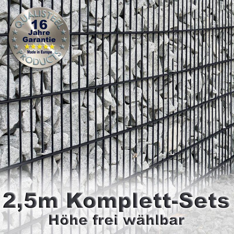 Gabionenzaun Set 8 6 8 Fvz Anthrazit 2 5m Doppelstabmattenzaun