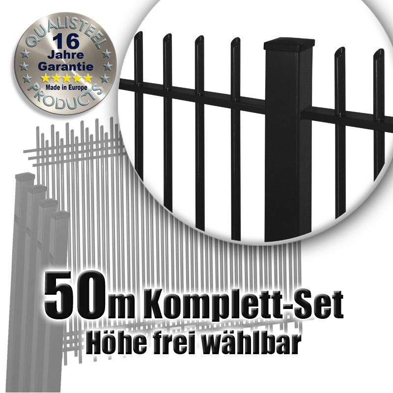 frontgitter komplett set pulverbeschichtet 50m. Black Bedroom Furniture Sets. Home Design Ideas