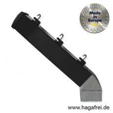 Stacheldrahtaufsetzer schwarz mit Aluminiumwinkel 60/40/300 mm