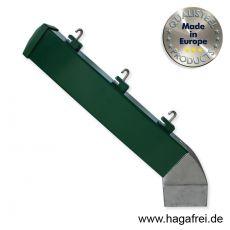 Stacheldrahtaufsetzer grün mit Aluminiumwinkel 40 x 60 x 300 mm