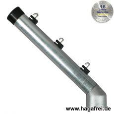 Stacheldrahtaufsetzer fvz. mit Aluminiumwinkel 48/42/300 mm