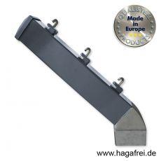 Stacheldrahtaufsetzer anthrazit mit Aluminiumwinkel 60/40/300 mm