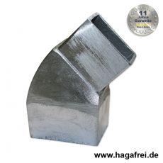 Pfostenabwinkelung Aluminium 60x40 mm