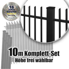 Frontgitter PROTECTION Komplett-Set feuerverzinkt + pulverbeschichtet 10m