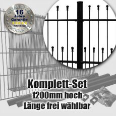 Schmuckzaun Komplett-Set DECORA fvz. + schwarz 1200mm