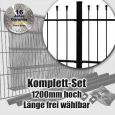Schmuckzaun Komplett-Set OPTIMA fvz. + schwarz 1200mm