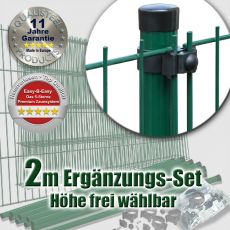 2m Mattenzaun-Ergänzungs-Set EASY-B-EASY Universal Medium