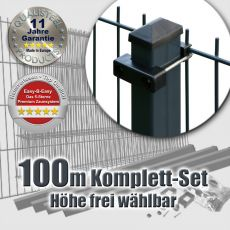 100m Mattenzaun-Set EASY-B-EASY U-Bügel Heavy RE
