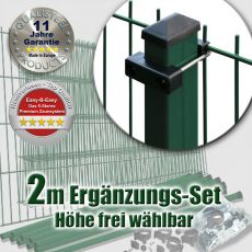 2m Mattenzaun-Ergänzungs-Set EASY-B-EASY U-Bügel Heavy RE