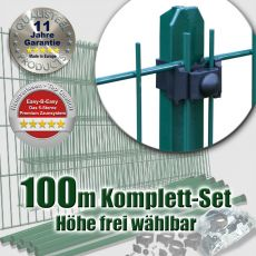 100m Mattenzaun-Set EASY-B-EASY grün Universal T-Pfosten