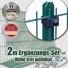 2m Mattenzaun-Ergänzungs-Set EASY-B-EASY grün Universal T-Pfosten