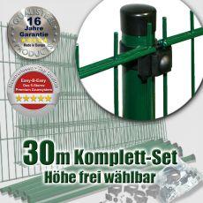 30m Doppelstabzaun-Set EBE Universal Rundpfosten Ø 42mm