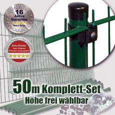 50m Doppelstabzaun-Set EBE Universal Rundpfosten Ø 42mm