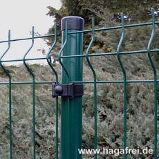 10m Mattenzaun-Set GENI 3D-Mattenzaun Rundpfosten grün