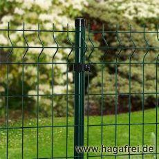40m Mattenzaun-Set GENO 3D-Stabmatten Rundpfosten grün