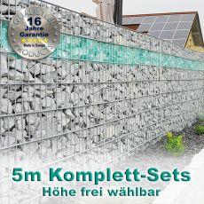 Gabionenzaun-Set 8-6-8 feuerverzinkt 5m