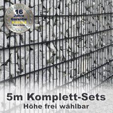 Gabionenzaun-Set 8-6-8 anthrazit 5m
