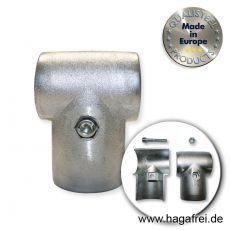 T-Schelle für 60mm Rohre, aus Aluminium