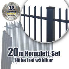 Frontgitter PROTECTION Komplett-Set feuerverzinkt + pulverbeschichtet 20m