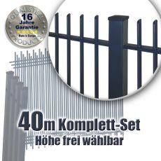 Frontgitter PROTECTION Komplett-Set feuerverzinkt + pulverbeschichtet 40m