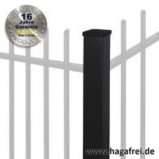 Zaunpfosten PROTECTION feuerverzinkt + pulverbeschichtet 80 x 80 mm