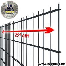 Industrie-Doppelstab-Zaunmatte 8-6-8 2230x2510mm fvz. + pulverbeschichtet RAL7016