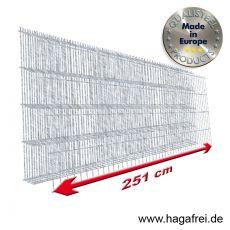 Industrie-Doppelstab-Zaunmatte 6-5-6 im Tauchbad feuerverzinkt 25er Teilung