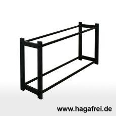 CUBE Multifunktionsregal 50 x 100 x 25 cm schwarz RAL9005