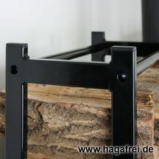 CUBE Multifunktionsregal 100 x 50 x 25 cm schwarz RAL9005