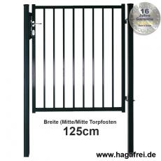 Zauntor BARO feuerverzinkt oder fvz. + pulverbeschichtet 1250 mm Breite