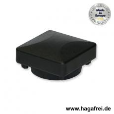 Pfostenkappe für quadratische Torpfosten schwarz