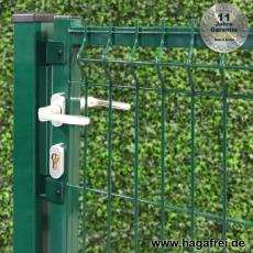 3D Zauntor ARGO 1250 mm Breite in grün oder anthrazit pulverbeschichtet
