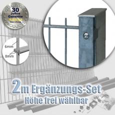 2m POWERWALL DSM-Ergänzungs-Set 8-6-8 fvz. Rechteckpf. Schiene