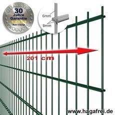 POWERWALL Doppelstab-Zaunmatte 8-6-8 fvz. + pulverbeschichtet grün RAL6005