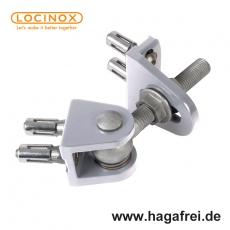 Anschraubbares, 4-Fach verstellbares Torband mit Quick-Fix-Befefestigung - unbehandeltes Aluminium