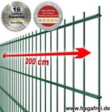 5-Sterne Premium Doppelstab-Zaunmatte EASY-B-EASY fvz. + pulverbeschichtet grün RAL6005